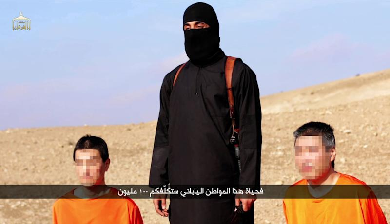 An image grab taken off a video on January 20, 2015, reportedly released by the Islamic State (IS) group through Al-Furqan Media (AFP Photo/-)