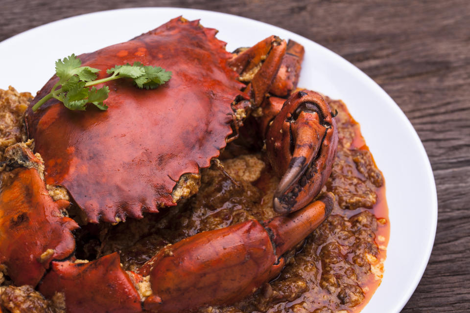 Singapore, Thailand Chilli Crab.