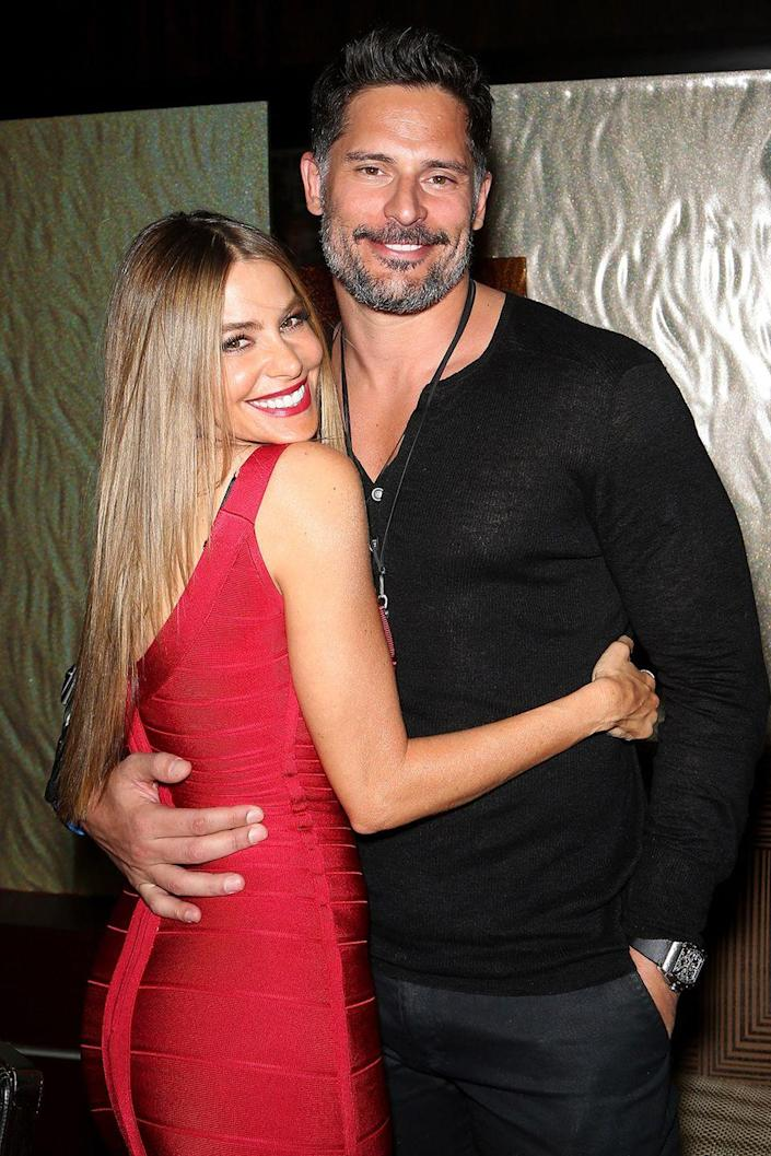 """<p><em>Modern Family</em> star Sofia and her <em>Magic Mike</em> man got engaged in Mexico following nearly six months of dating, according to <em> <a class=""""link rapid-noclick-resp"""" href=""""https://people.com/celebrity/joe-manganiello-reveals-why-he-cannot-wait-to-marry-sofia-vergara/"""" rel=""""nofollow noopener"""" target=""""_blank"""" data-ylk=""""slk:People"""">People</a></em>. After getting married in 2015, they're still blissfully wed today.</p>"""
