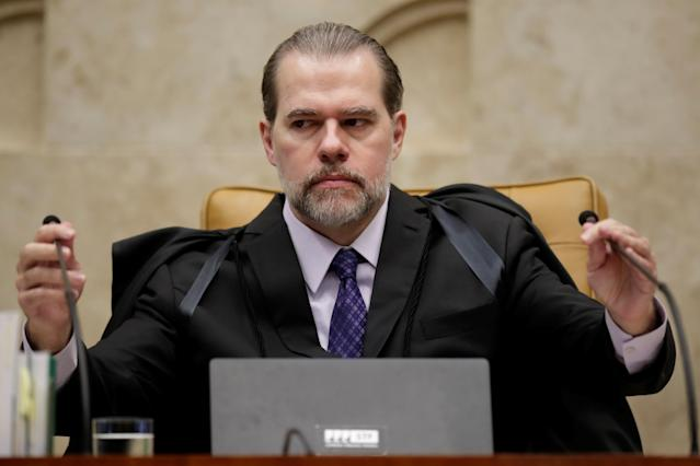 Presidente do Suprema Corte, Dias Toffoli, durante sessão do plenário do STF. Foto: REUTERS/Ueslei Marcelino