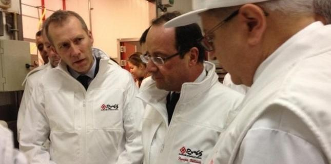 Hollande en visite surprise à Rungis