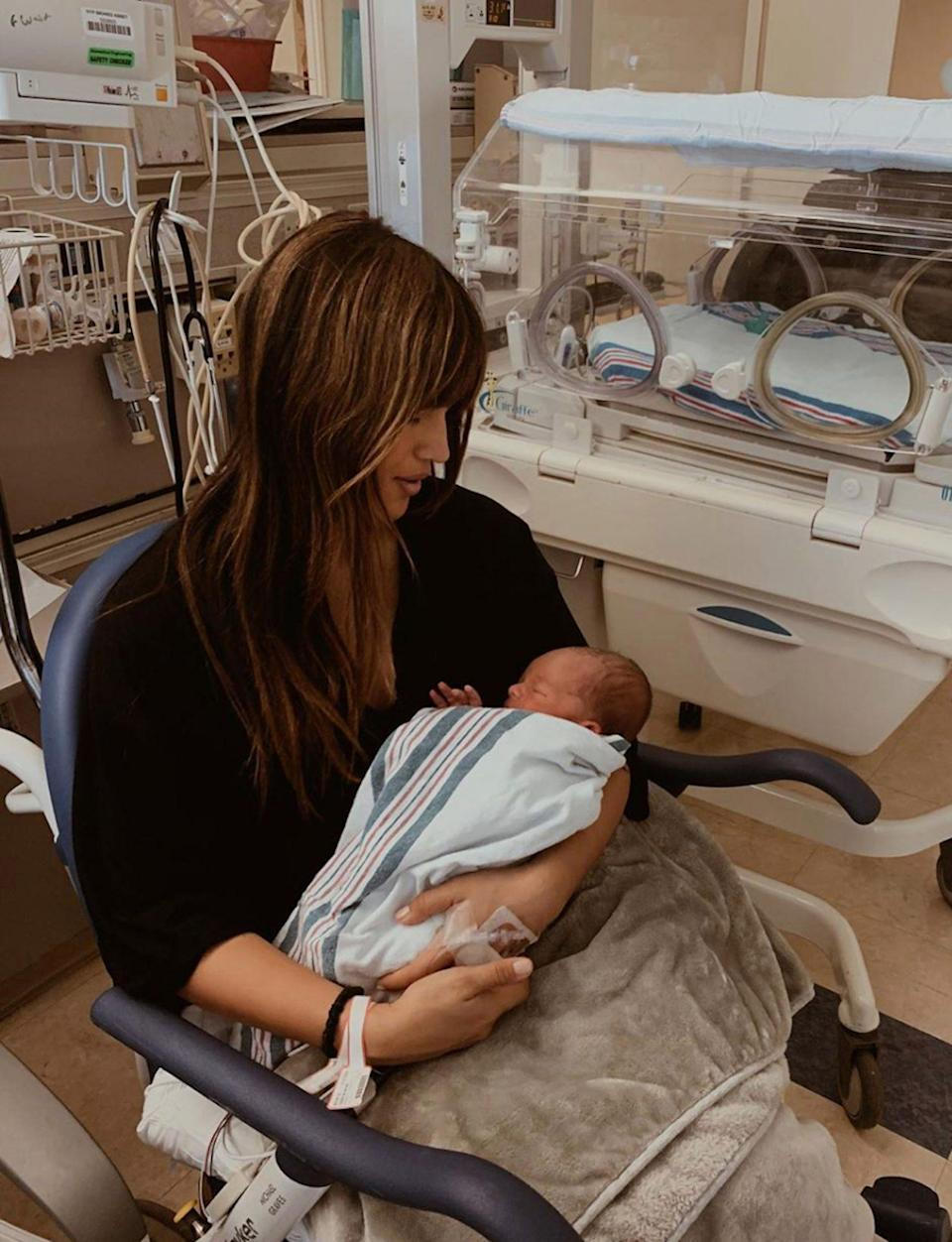 """<p>The model's pregnancy was a """"breeze,"""" she writes. But postpartum was an entirely different experience. Barnes explains that giving birth to her son Jones Robert Cooper, whom she shares with husband Matt Cooper, in January 2020, was """"traumatic.""""</p> <p>""""Even with a natural birth with no tools, Jones suffered a subgaleal hematoma, multiple brain hemorrhages, and jaundice,"""" Barnes writes in <em>Life After Birth</em>. """"I suffered third-degree tearing, quite a bit of time in a wheelchair and what is expected to be a two month recovery. Then add the emotional rollercoaster on top.""""</p> <p>""""Postpartum has been a mix of the happiest moments of my life, as well as some of the lowest,"""" writes Barnes, who worried she couldn't balance going back to work and being a mom. </p> <p>She's thankful to her husband, friends, family and the """"mom club"""" that showed her support.</p> <p>Barnes concludes, """"Sending love and light to all the new mommas out there, we got this.""""</p>"""