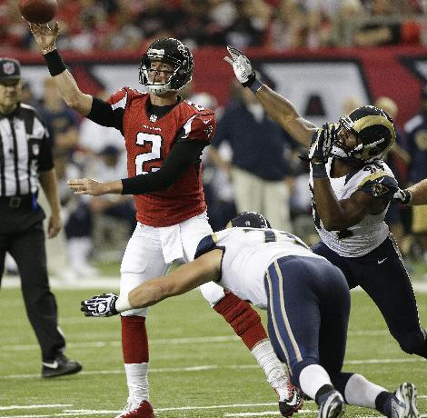 Jones has huge day, Falcons hold off Rams 31-24