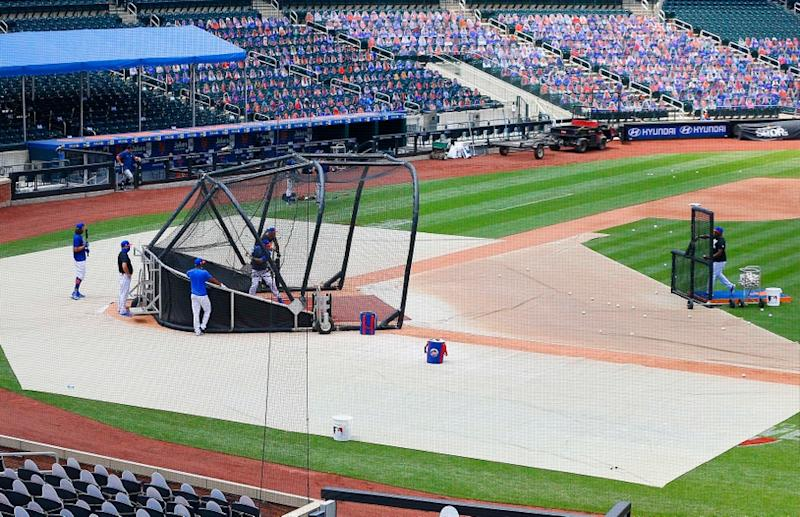 A general view of Citi Field during batting practice