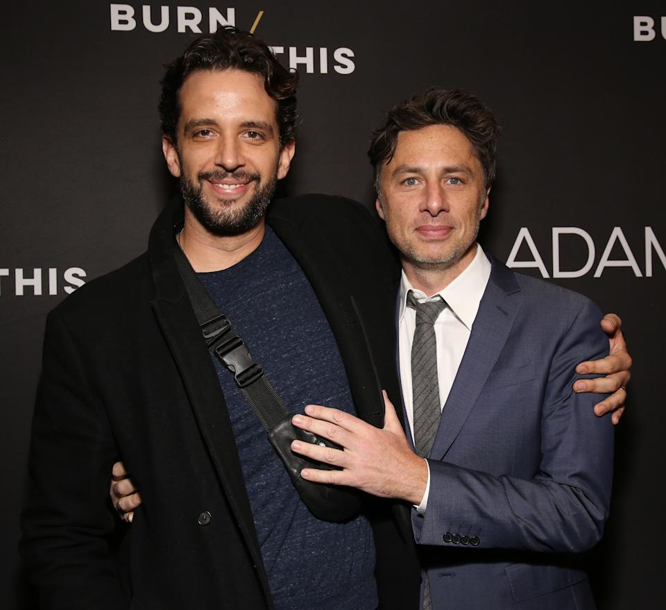 Zach Braff said he campaigned to get Nick Cordero included in Emmys segment. Here they are in April 2019.