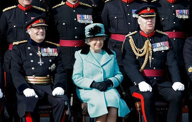 Her Majesty almost got shot by one of her patrolmen. Photo: Getty Images