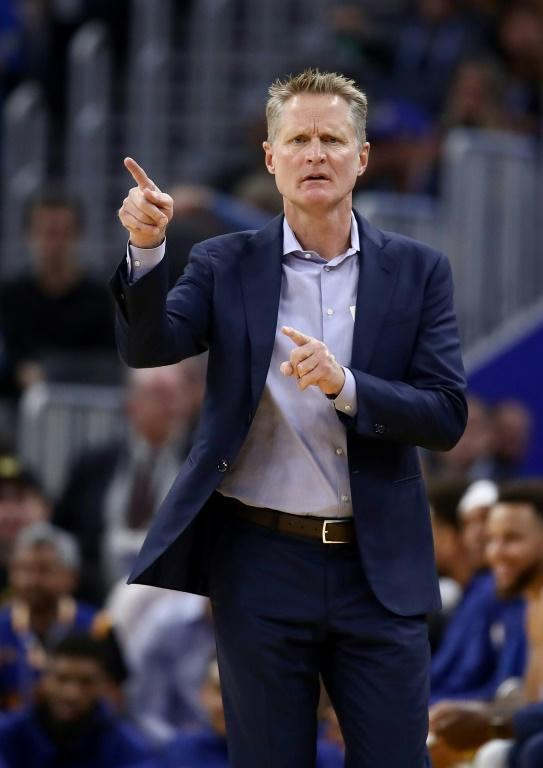 Golden State Warriors coach Steve Kerr was ripped by US President Donald Trump for his desire to learn more before commenting on the ongoing NBA-China dispute (AFP Photo/EZRA SHAW)
