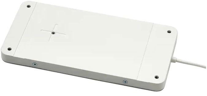 Image of the new charger under IKEA's desk.