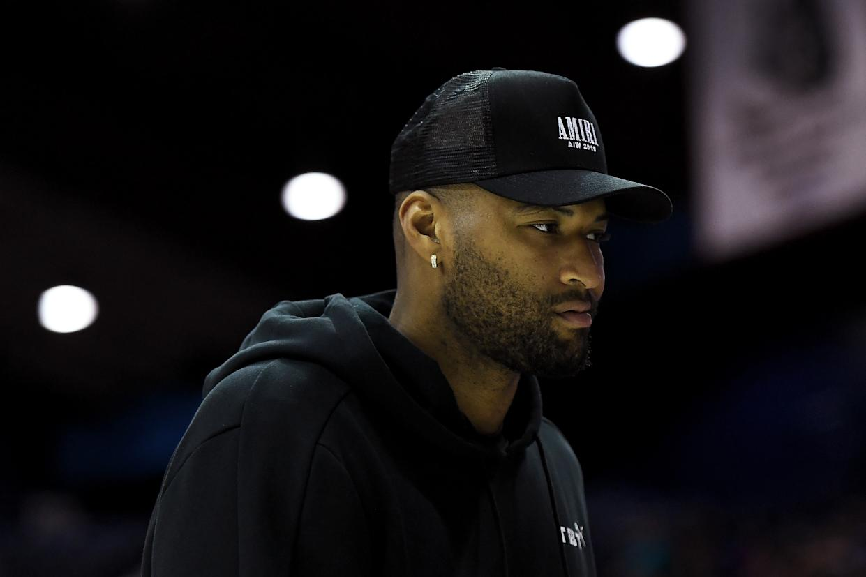Los Angeles Lakers center DeMarcus Cousins allegedly threatened his ex-girlfriend. (Getty Images)