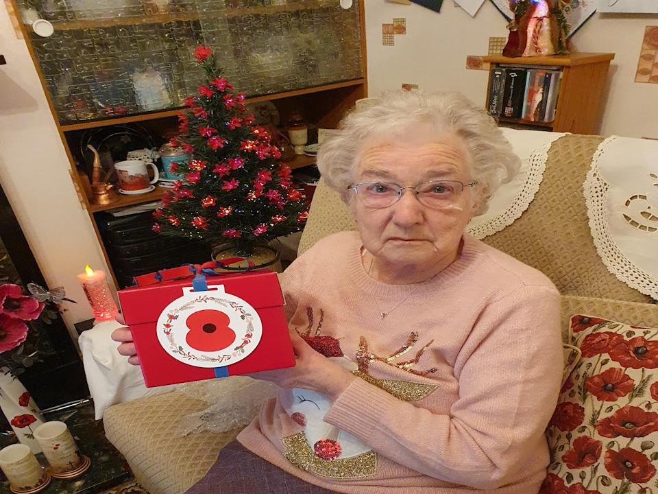 Christmas pudding recipient Vera Parnaby is a dedicated Poppy Appeal volunteer (Royal British Legion/PA)