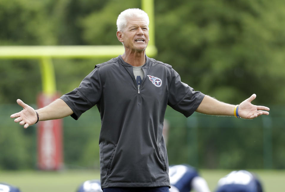 After two years with the Tennessee Titans, Kerry Coombs is returning to Ohio State — this time as defensive coordinator. (AP Photo/Mark Humphrey)