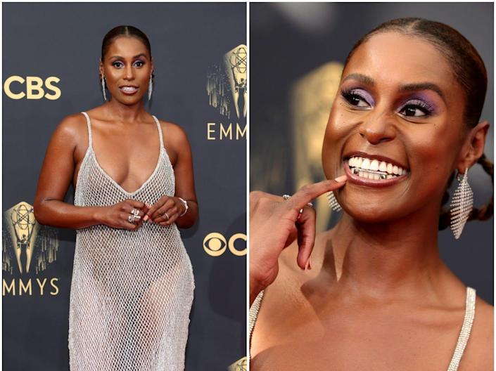 Issa Rae pictured at the 2021 Emmys.