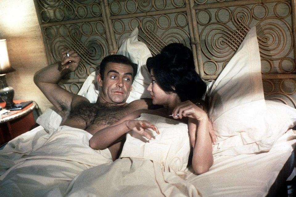 The first Bond: Sean Connery and Zena Marshall in 'Dr No' in 1962 (George Konig/Shutterstock)