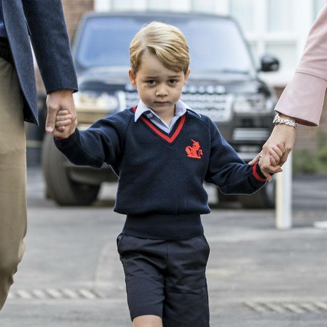 Prince George on his first day of school credit:Bang Showbiz