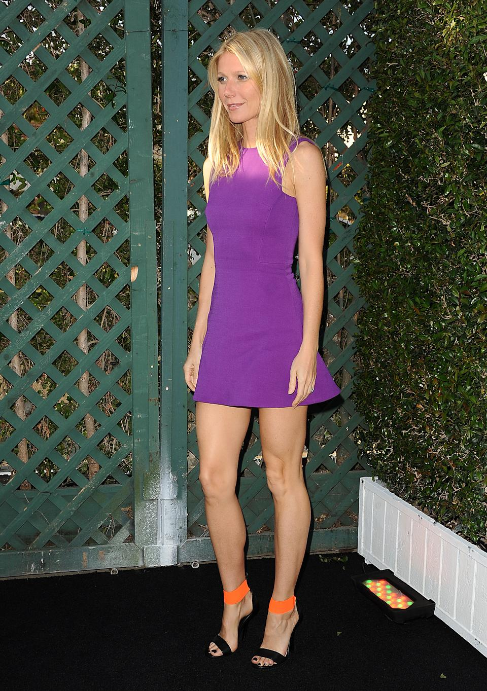 BRENTWOOD, CA - APRIL 04: Actress Gwyneth Paltrow attends the opening of Tracy Anderson Flagship Studio on April 4, 2013 in Brentwood, California. (Photo by Jason LaVeris/FilmMagic)