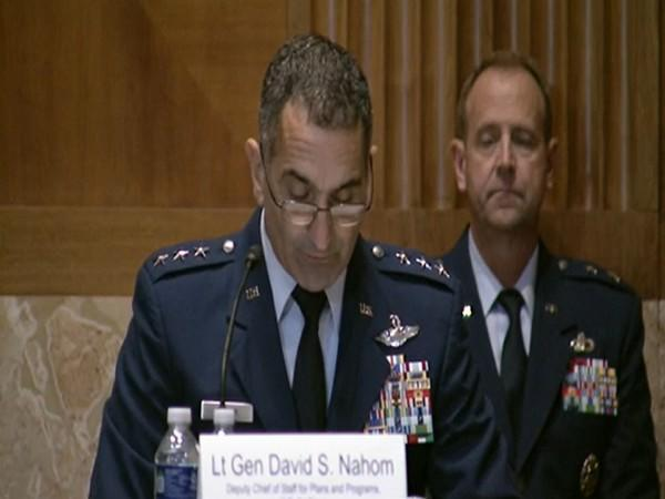 Air Force Deputy Chief of Staff for Planning and Programs Lt. Gen. David Nahom told Congress on Wednesday.