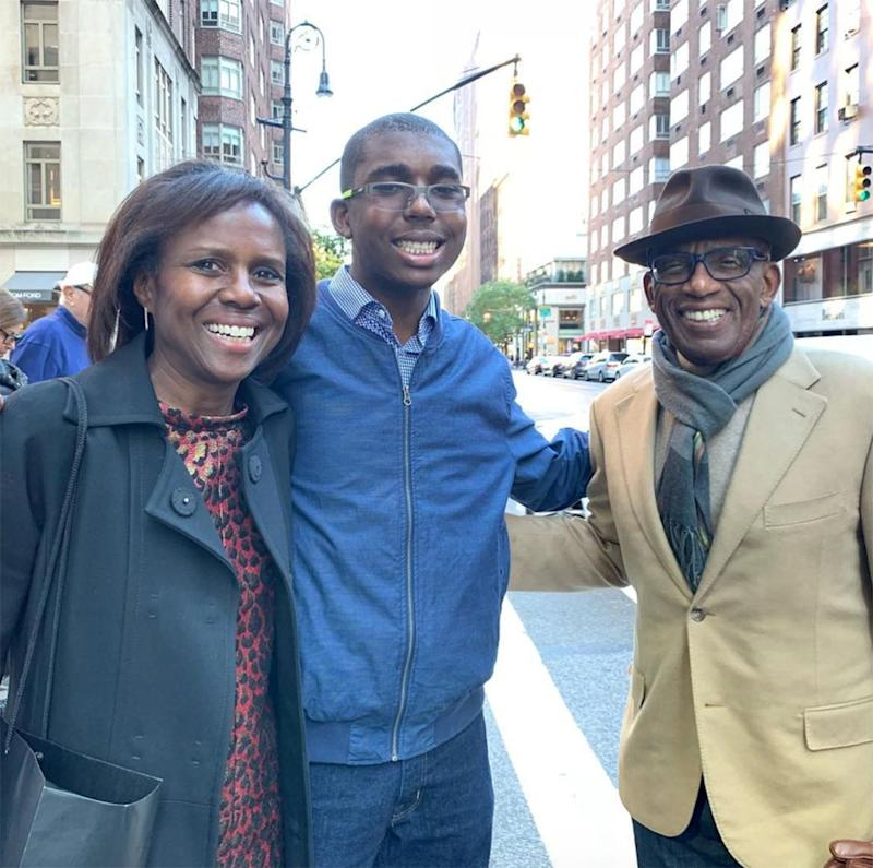 Nick with Al Roker and Deborah Roberts | Al Roker/Instagram