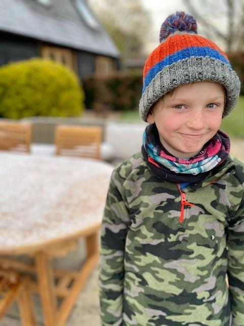 Archie said he was inspired by 11-year-old Max Woosey, who slept in a tent in his garden for a year. (Poppy Tunstill/ PA)
