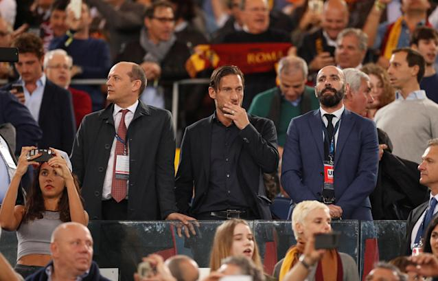 Soccer Football - Champions League Semi Final Second Leg - AS Roma v Liverpool - Stadio Olimpico, Rome, Italy - May 2, 2018 Francesco Totti in the stands Action Images via Reuters/John Sibley