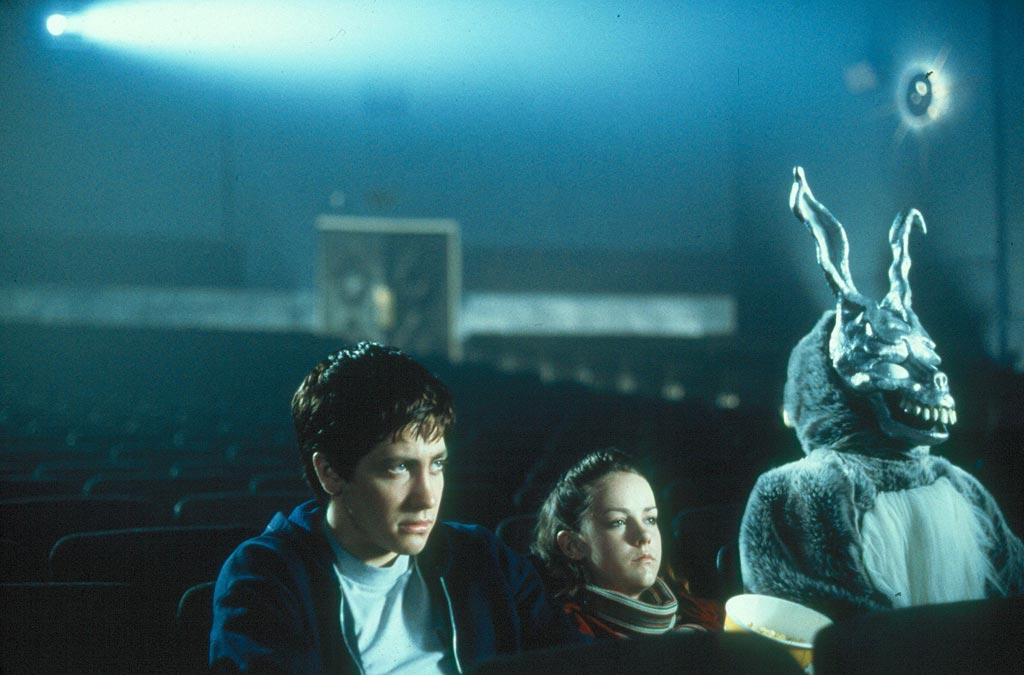 "27. <a href=""http://movies.yahoo.com/movie/1800037822/info"">DONNIE DARKO</a>    A true mind bender. ""Donnie Darko"" spins the twisted tale of a disaffected teen told by a guy in a freaky rabbit costume that the world will end in 28 days."