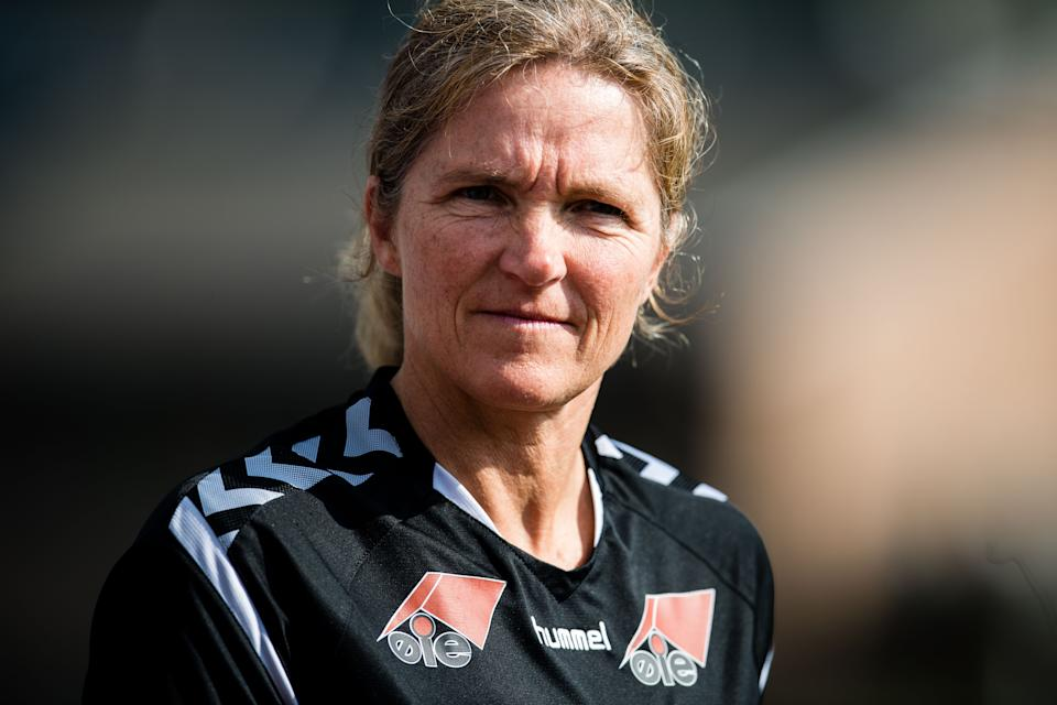 Interim Lionesses head coach Hege Riise has named her first squad in charge, ahead of a friendly with Northern Ireland.  Photo Credit: Reuters/VEGARD WIVESTAD GRØTT