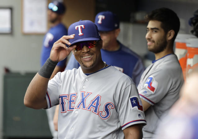 "<a class=""link rapid-noclick-resp"" href=""/mlb/players/6039/"" data-ylk=""slk:Adrian Beltre"">Adrian Beltre</a> has announced his retirement from baseball after a 21-year career. (AP Photo/Ted S. Warren)"