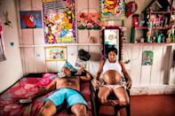 <p>Yorladis is pregnant for the sixth time, after five other pregnancies were terminated during her FARC (Revolutionary Armed Forces of Colombia) years. She says she managed to hide the fifth pregnancy from her commander until the sixth month by wearing loose clothes. (Catalina Martin-Chico) </p>