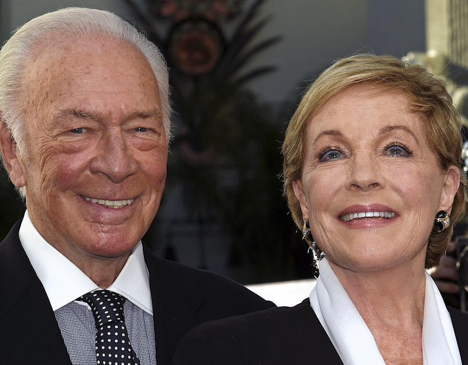 Christopher Plummer is being mourned by his Sound of Music co-star Julie Andrews in the wake of his death. The two are seen here at the 50th anniversary screening of the film in 2015. (Photo: Reuters)