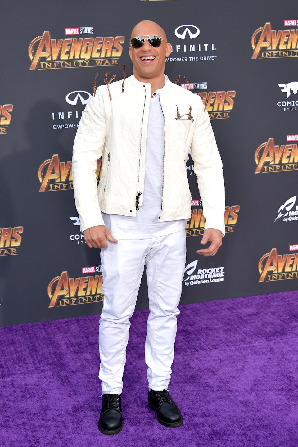 <p>Note the nods to Groot. (Photo: Getty Images) </p>