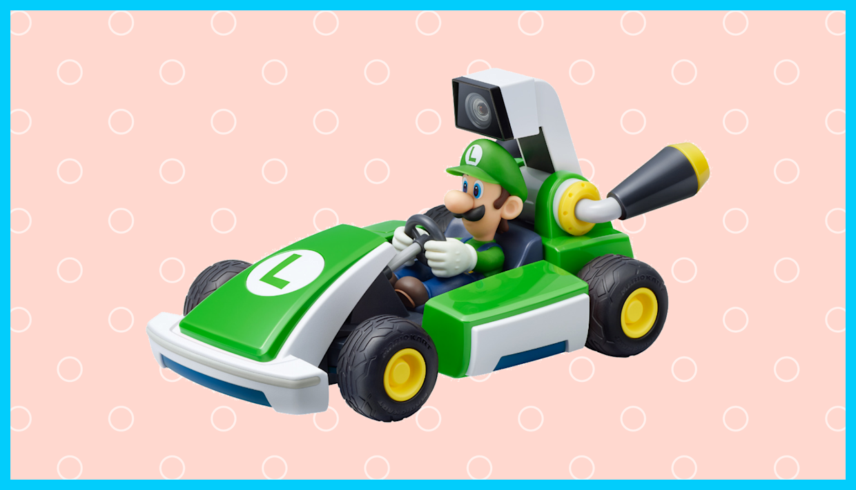 Get Mario Kart Live: Home Circuit—Luigi Set for Nintendo Switch on sale for its lowest price ever. (Photo: Amazon)