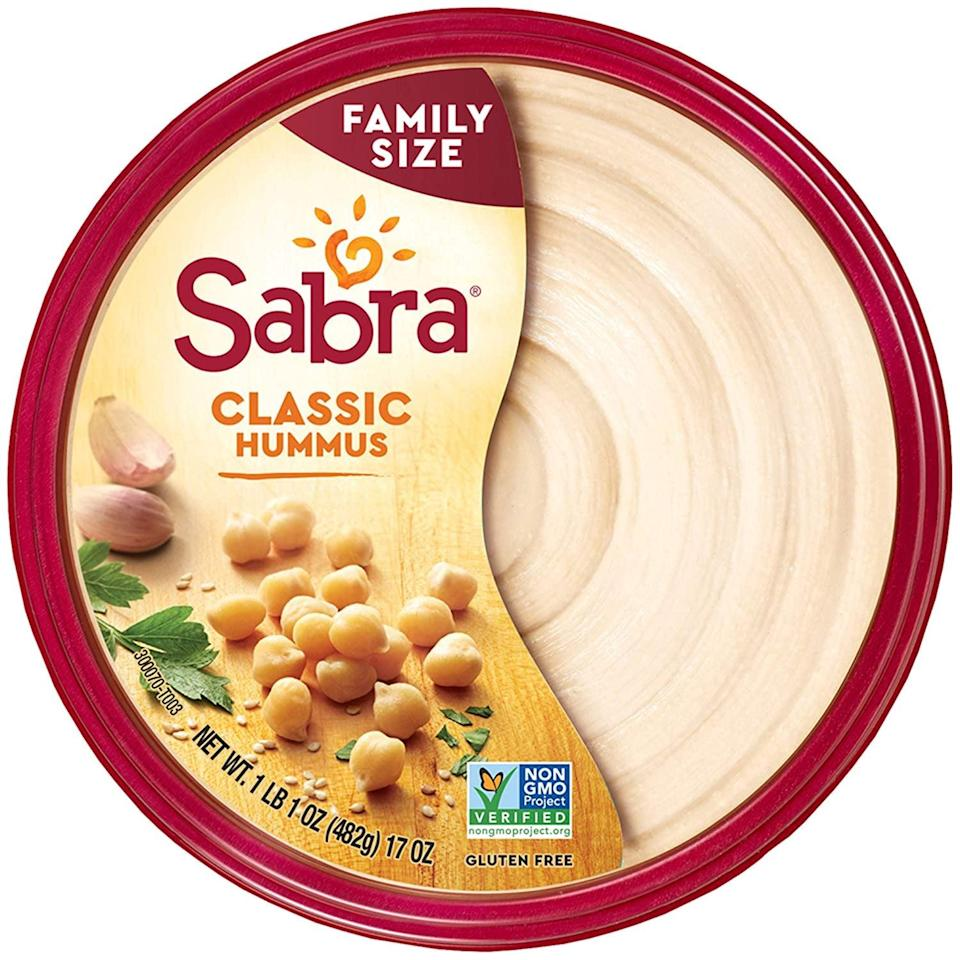 <p>Have these healthy <span>Sabra Classic Hummus</span> ($5) with some crackers.</p>