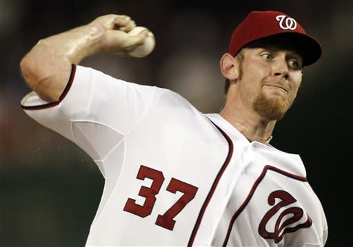 Strasburg pulled after 3 IP as Nats lose in 10