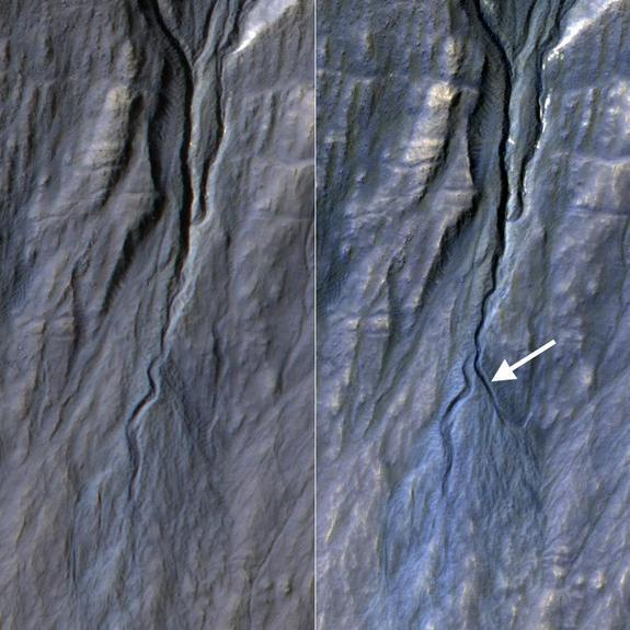 NASA Discovers New Gully on Mars (Photo)