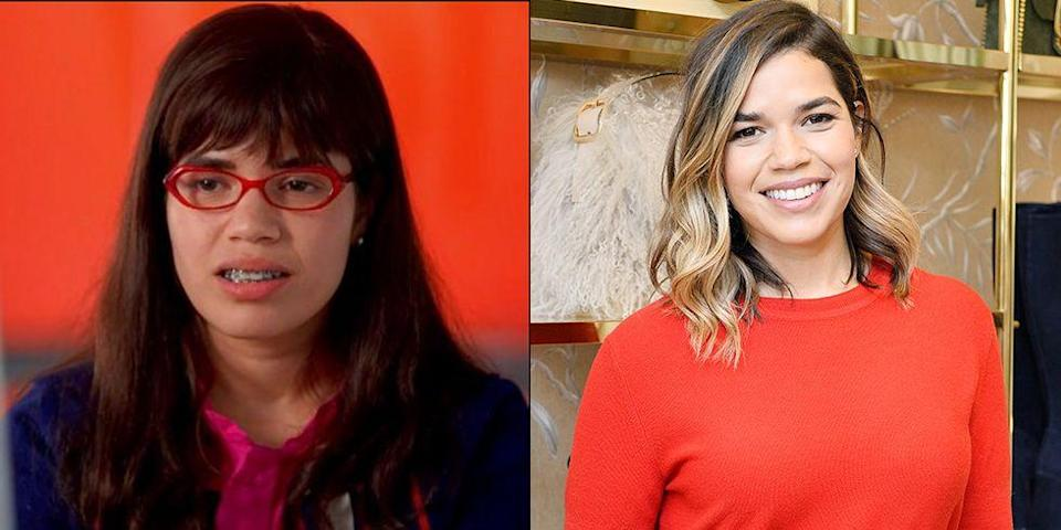 <p>In reality, America Ferrera doesn't wear red glasses, braces, or bangs — and she's much more stylish than her character on <em>Ugly Betty</em>. </p>
