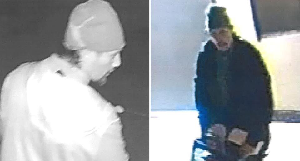 A man is pictured in CCTV footage captured from a Milwaukee bakery.