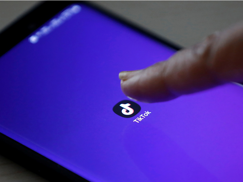 FILE PHOTO: The logo of TikTok application is seen on a mobile phone screen in this picture illustration taken February 21, 2019. REUTERS/Danish Siddiqui/Illustration/File Photo