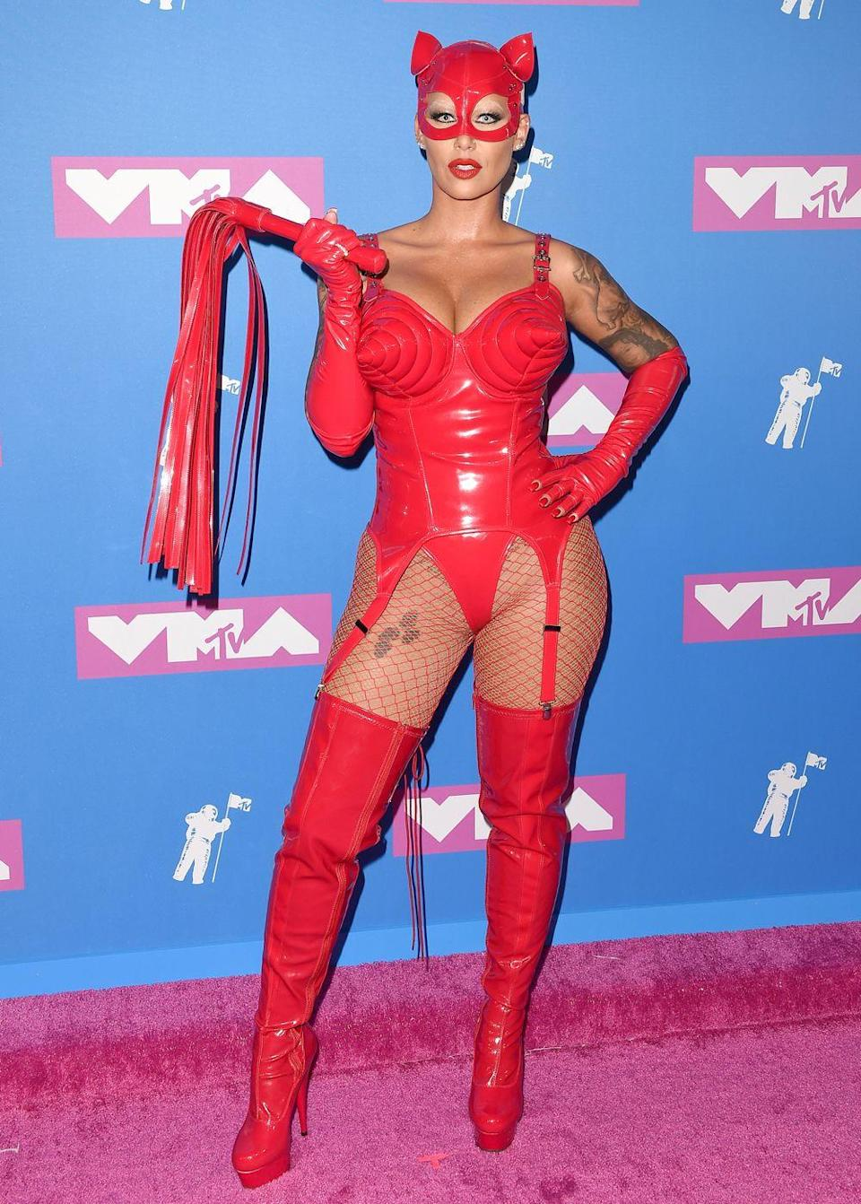 <p>The VMAs may be in August but that didn't stop Amber Rose rocking up in a little Halloween number. </p>