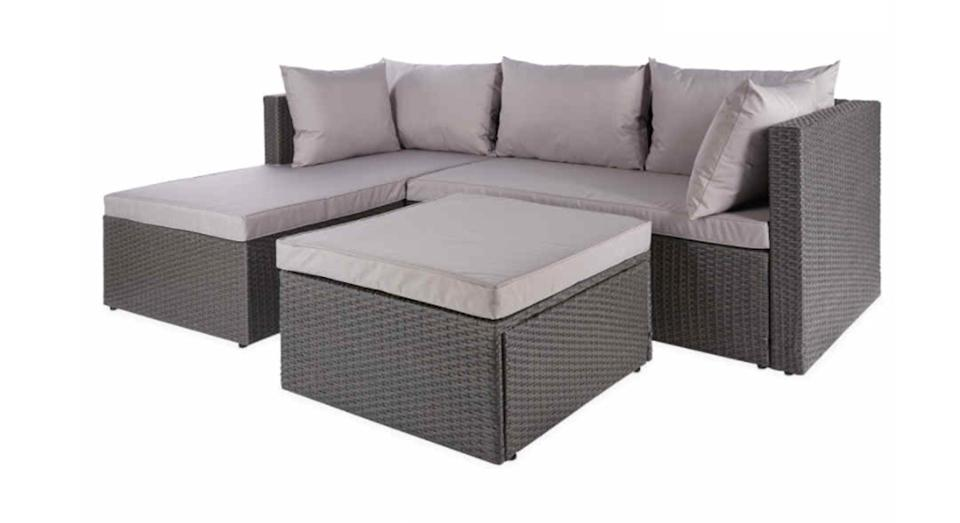 Anthracite Rattan Sofa With Cover