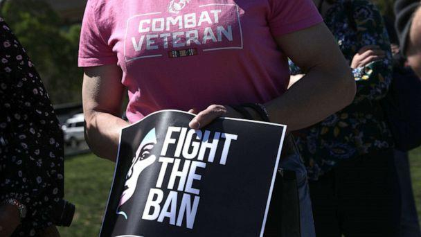 PHOTO: Activists participate in a rally at the Reflecting Pool at the Capitol, April 10, 2019, in Washington, D.C. (Alex Wong/Getty Images)