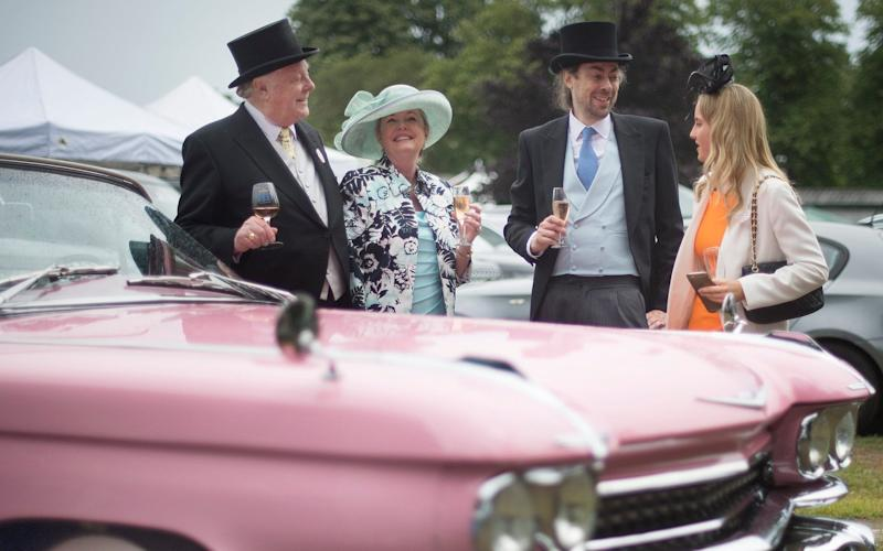 Alan Tyers (second from right) had a lovely time at Ascot without watching a single race - © Eddie Mulholland