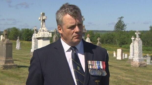 Owen Parkhouse would like to see more younger veterans joining the legion. (Rick Gibbs/CBC - image credit)
