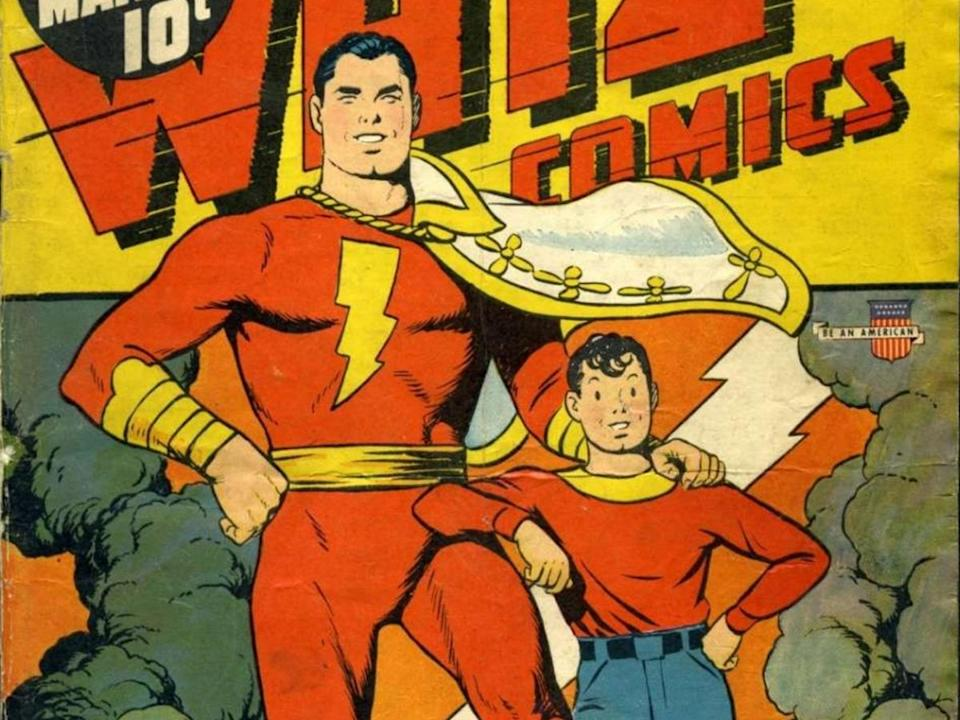 Whiz Comics #22 features Billy Batson and his super-powered alter-ego.