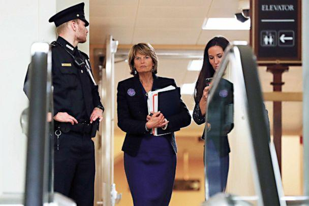 PHOTO: Sen. Lisa Murkowski walks in the basement at the U.S. Capitol on Jan. 30, 2020, while leaving at the end of a session in the impeachment trial of President Donald Trump on charges of abuse of power and obstruction of Congress, in Washington. (Julio Cortez/AP)