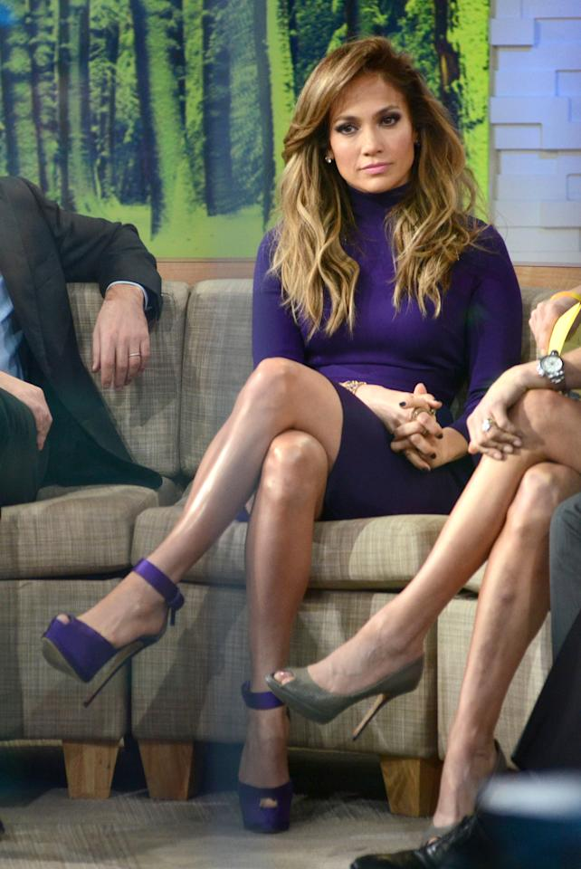 Jennifer Lopez appears on 'Good Morning America', NYC.