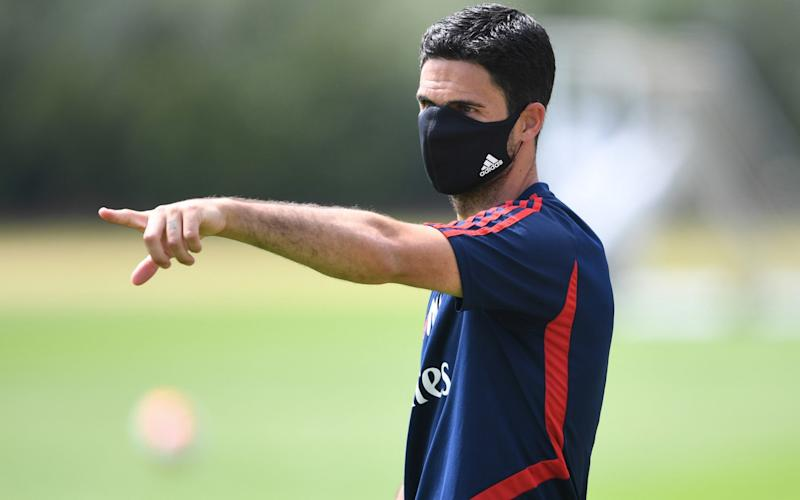 Head Coach Mikel Arteta during a training session at London Colney - Getty Images