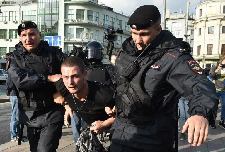 The West has condemned the actions of Russian police, who used batons on demonstrators