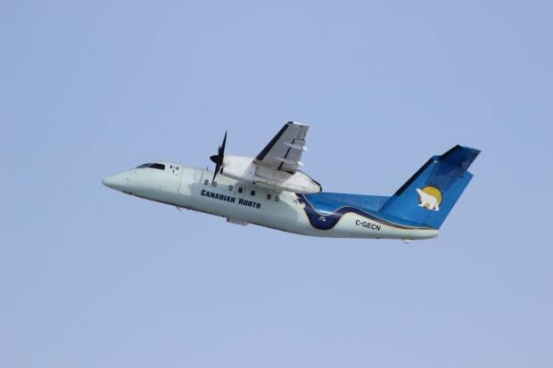 The N.W.T. government announced the exposure notice late Sunday evening for a Canadian North flight from Yellowknife to Norman Wells. (Canadian North - image credit)