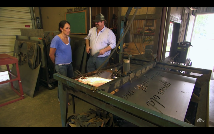 <p>Chip and Joanna often use their go-to vendors, like carpenter Clint Harp, for big projects—and homeowners usually get to keep these one-of-a-kind items.</p>
