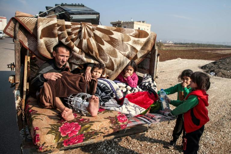 More than 30,000 Syrians have fled fighting southern Idlib in recent days, the Syrian Observatory for Human Rights said