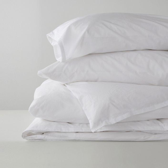 "<h3>Gryphon </h3><br><br>With the tagline, ""Make Your Bed Your Happy Place,"" Gryphon delivers on luxuriously comfortable bedding you can feel good in and about — each of the brand's products (from sheets to pillowcases and duvet covers) is sustainably-sourced and crafted with environmentally and ethically-friendly practices from recycled and harmful chemical-free materials. Gryphon also claims to reduce water consumption in its production by an impressive, ""51.94 million gallons of water year over year.""<br><br><em>Shop <strong><a href=""https://www.gryphonhome.com/"" rel=""nofollow noopener"" target=""_blank"" data-ylk=""slk:Gryphon"" class=""link rapid-noclick-resp"">Gryphon</a></strong></em><br><br><br><strong>Gryphon</strong> Comfort Washed Sheet Set, $, available at <a href=""https://go.skimresources.com/?id=30283X879131&url=https%3A%2F%2Fgryphonhome.com%2Fcollections%2Fview-all%2Fproducts%2Fcomfort-washed-sheet-set"" rel=""nofollow noopener"" target=""_blank"" data-ylk=""slk:Gryphon Home"" class=""link rapid-noclick-resp"">Gryphon Home</a>"